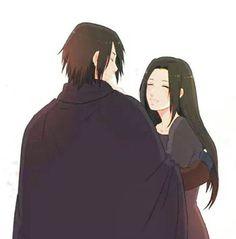 Sasuke and Mikoto Uchiha