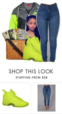 """slime. 🔋"" by glowithbria ❤ liked on Polyvore featuring NIKE"