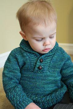 Boy Sweater by Lisa Chemery. malabrigo Rios in Solis.