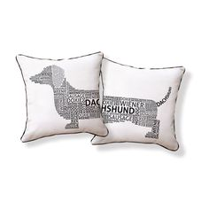 Fab.com | Typography Pillow White