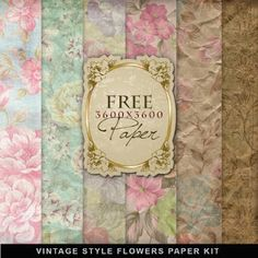 Free Patterned Paper Printable Packs (that's a tongue twister!) This website is awesome! So many things to choose from and some lovely vintage designs, too!