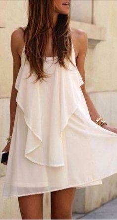 chiffon waterfall dress