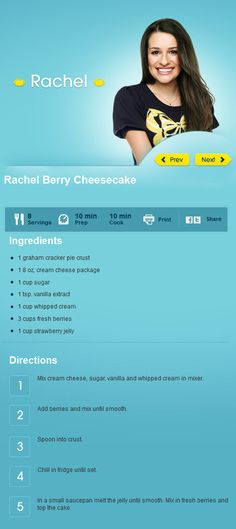 Rachel Berry Cheesecake