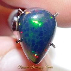 Batu Mulia Natural Pear Cab Black Opal 1.10 Carat
