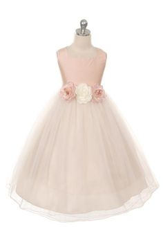 dusty rose flower girl dress, dusty rose, Lizzylove Auckland looks lower in the waist than on the model