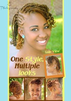 two strand twist updo. natural hairstyle