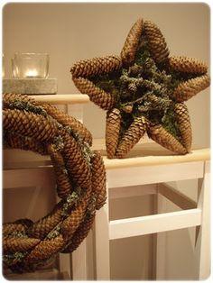 Beautiful pinecones wreaths