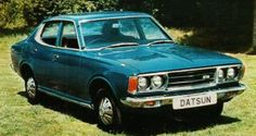 Datsun Bluebird 160B-180B £1,784-£1,857 Saloon, coupe or station wagon with two four-cylinder overhead camshaft engines, 1.6 or 1.8 litres; this is the choice now in Datsun's medium family car range. #70scars