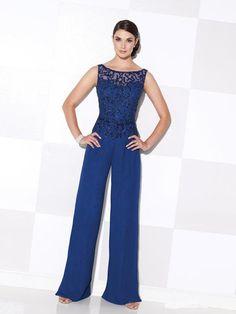 Royal Blue Madre elegante de la novia Pant Suits Plus Tamaño Madre de la Novia Pantalones Trajes de fiesta de la boda de playa Pant Suits gasa