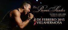 Concierto de Romeo Santos en Villahermosa. Domingo 8 de febrero de 2015 en el Teatro al aire libre de Parque Tabasco en Villahermosa, Tabasco.