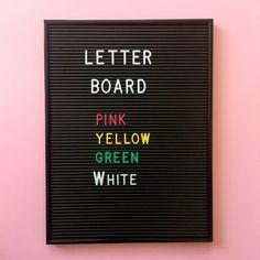 Letter Board – kirjaintaulu, musta + valkoiset kirjaimet (286 kpl)