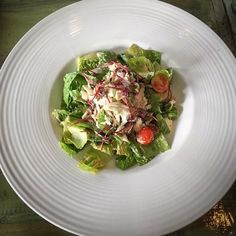 We've got something delicious for you! Our Crab Louis salad made with romaine hearts, crab, avocado, grape tomatoes, asparagus, cured yolk and topped with 1000 island dressing! #nomnom  Great pic @amandakayoates! Great Pic, Menu Items, How To Make Salad, Asparagus, Tomatoes, Nom Nom, Grilling, The Cure, Avocado