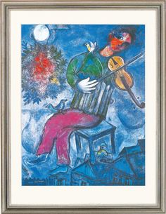 "Marc Chagall: Painting ""Le Violoniste Bleu"" (1947)"