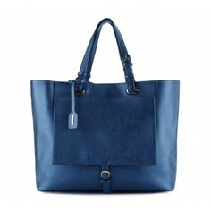 Torebka WITTCHEN Young shopper bag 78-4Y-807-N wiosna/lato 2014 eco leather blue hanbag