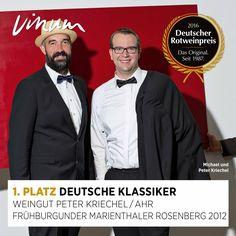 #DeutscherRotweinpreis 1. Platz Deutsche Klassiker: Frühburgunder Marienthaler Rosenberg Ahr 2012, Weingut Peter Kriechel, Ahrweiler #Rotweinpreis #Deutscherwein
