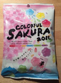 Colorful Sakura Candy, Hard Candy, 5 flavors, Japan, Kanro #Kanro