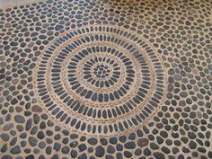 mexico grey pebble mosaic floor