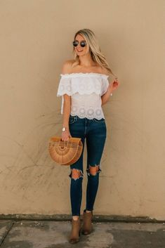a40f4aeacecae 28 Best Off the shoulder top outfit images