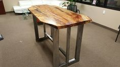 Counter Height Live Edge Table by 512Tables on Etsy