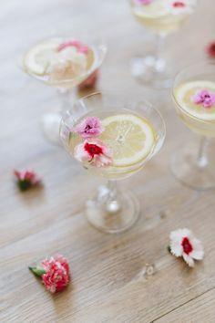 Sparkling floral lemon drop recipe