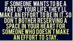 Good to remember. Don't make someone a priority in your life when you are only an option in theirs.