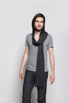 Schoodie Hooded Scarves Ribbed Hooded Scarf