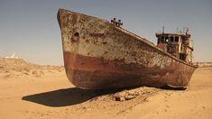 Abandoned Ships Stranded in the Desert