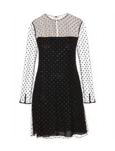 Crystal-embellished Tulle Dress by Saint Laurent #christmas #party #dress
