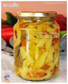 Zucchine sott'olio | versione bollite