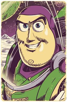 Buzz Lightyear illustration By Jim Zahniser, Red Robot Design & Illustration www.etsy.com/shop/RedRobotCreative
