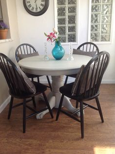 Love Our New Claw Foot Table Oak And Chairs Dining Redo