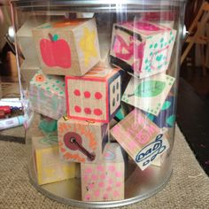 Have Baby Shower guests decorate wooden blocks with paint pens.  1 1/2 inch wooden blocks can be purchased at Hobby Lobby.