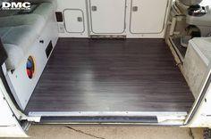 DasMotoClub – New Floor Upgrade Kombi Camper, Kombi Motorhome, Vw Vanagon, Camper Van, Bus Interior, Campervan Interior, Interior Ideas, Vinyl Wood Flooring, Wood Vinyl