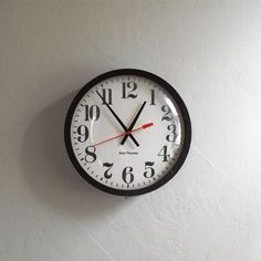 Vintage Industrial School Clock  Mid Century Seth by solsticehome, $89.00