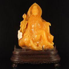 Superb Indonesia Jin Tian Huang Kwan-yin Statue