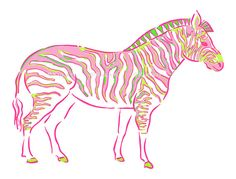 INSTANT DOWNLOAD (no physical items sent) - preppy pink zebra clipart - perfect for making your own cards, gift tags, invitations, scrapbooks, planner stickers etc.  1 high quality PNG file (approx. 6 long at 300 ppi). IF YOU WOULD LIKE TO USE THIS FOR COMMERCIAL USE, SEE BELOW. This item