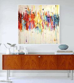 GICLEE print, WHITE blue  abstract painting  , Modern painting jolina anthony