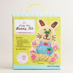 Crispy Rice Bunny Kit perfect for kids to help create this Easter at Cost Plus World Market >>  #WorldMarket Easter Style Hunt Sweepstakes. Enter to win a 1K World Market gift card.