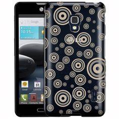LG Optimus F6 Tan Bullseye Bubbles Clear Case