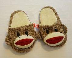 Maxx The Sock Monkey Puffy Padded House Slippers Size 4-5 Youth #132 in Clothing, Shoes & Accessories, Unisex Clothing, Shoes & Accs, Unisex Accessories | eBay
