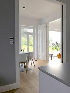 Ein Blick aus Küche, durchs Esszimmer, ins Wohnzimmer...und in den Garten.