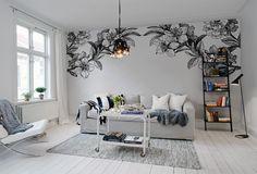 Floral Close-up Wall Murals Bedroom Murals, Wall Murals, Deco Design, Wall Design, Interior Architecture, Interior Design, Metal Tree Wall Art, New Room, Room Inspiration