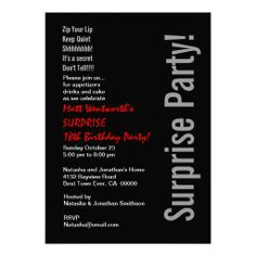 SURPRISE 18th Birthday Party Modern Template Personalized Invitations
