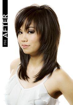 Mar 2020 - Frisur 360 - - Haare - Hairstyle 360 - Medium Layered Hair, Medium Hair Cuts, Medium Hair Styles, Curly Hair Styles, Medium Curly, Hairstyles With Bangs, Office Hairstyles, Anime Hairstyles, Stylish Hairstyles