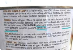 """Painting laminate without sanding. Great primer for the RV walls? - true value - """"One of the reasons I looooooove Zinsser's 'Cover Stain' is that it clings to so many surfaces without sanding and dries in an hour. Repainting Furniture, Laminate Furniture, Painted Furniture, Diy Furniture, Furniture Makeover, Laminate Cabinets, Painted Wood, Boy Dresser, Painting Laminate"""