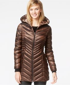 Laundry by Shelli Segal Hooded Down Packable Puffer Coat - Coats - Women - Macy's