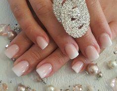 Short acrylic ombre make up ногти Acrylic Nails Glitter Ombre, Rounded Acrylic Nails, Square Acrylic Nails, Acrylic Nail Designs, Glitter Gel, Gorgeous Nails, Pretty Nails, Nail Stiletto, Ambre Nails