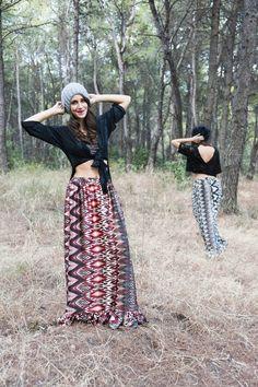 Marilena (Left) : Hurit Top - Abey Skirt / Giannita (Right) : Donoma Top - Abey Skirt / Photo by : Theo Vranas