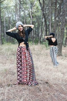 Marilena (Left) : Hurit Top - Abey Skirt / Giannita (Right) : Donoma Top - Abey Skirt / Photo by : Theo Vranas