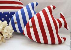 Детская ручной работы. Ярмарка Мастеров - ручная работа. Купить Текстильная рыбка По морям, по волнам. Handmade. Морской стиль